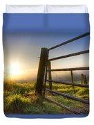 Sunrise  Gate Duvet Cover