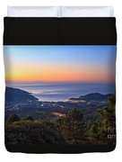 sunrise in Elba island Duvet Cover