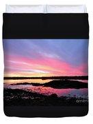 Sunrise In Maine Duvet Cover
