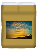 Sunrise In Manaure Colombia Duvet Cover