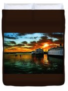 Sunrise In San Francisco Duvet Cover