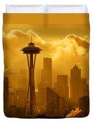 Sunrise In Seattle Duvet Cover