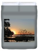 Sunrise Is Calling On Nc Waterway  Duvet Cover