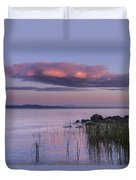 Sunrise Lake Champlain Shore Vermont Clouds Duvet Cover