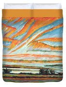 Sunrise Les Eboulements Quebec Duvet Cover