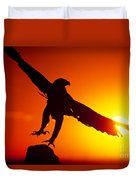 Sunrise Liftoff Golden Eagle Threatened Species Duvet Cover