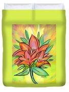 Sunrise Lily Duvet Cover