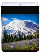 Sunrise Lupines Duvet Cover