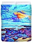 Sunrise Near Poipu Beach Duvet Cover