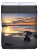 Sunrise On A Beach Near The Port Duvet Cover