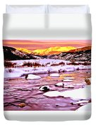 Sunrise On A Cold Day Duvet Cover