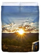 Sunrise On A Traffic Jam Duvet Cover