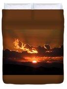 Sunrise On Fire Duvet Cover