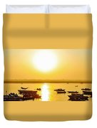 Sunrise On Ganges Duvet Cover