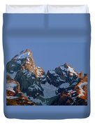 1m9333-h-sunrise On Grand Teton Duvet Cover