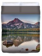 Sunrise On Gunsight Mountain Duvet Cover by Robert Bales