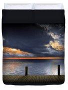 Sunrise On Key Islamorada In The Florida Keys Duvet Cover