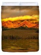 Sunrise On Little Redfish Lake Duvet Cover