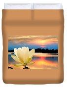 Sunrise On Lotus Lillie Duvet Cover