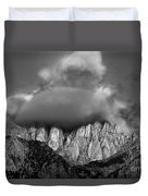 Sunrise On Mount Whitney Eastern Sierras California Duvet Cover