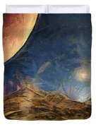 Sunrise On Space Duvet Cover