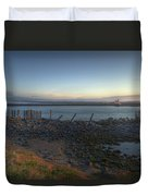 Sunrise On The Coquille River Duvet Cover