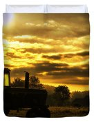 Sunrise On The Deere Duvet Cover