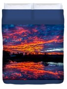 Sunrise On The Fishing Hole Duvet Cover