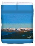 Sunrise On The Gore. Duvet Cover