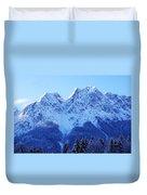 Sunrise On The Alps Duvet Cover