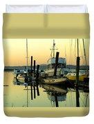 Sunrise On The Petaluma River Duvet Cover by Bill Gallagher