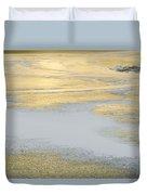 Sunrise On The River Ice Duvet Cover