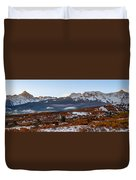 Sunrise On The San Juans Duvet Cover