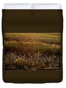 Sunrise On Wild Grass Duvet Cover