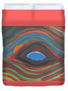 Sunrise Over Blue Ridge Mountain Lake Duvet Cover