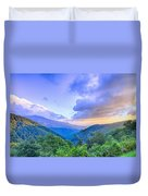 Sunrise Over Blue Ridge Mountains Scenic Overlook  Duvet Cover