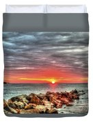 Sunrise Over Breech Inlet On Sullivan's Island Sc Duvet Cover