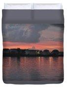 Sunrise Over Cape Fear River Duvet Cover