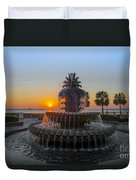 Sunrise Over Charleston Duvet Cover
