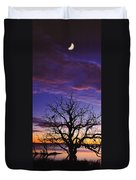 Sunrise Over Coongee Lakes With Moon.  Duvet Cover