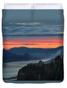 Sunrise Over Crown Point Duvet Cover