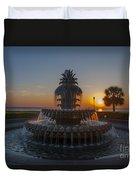 Sunrise Over Downtown Charleston  Duvet Cover