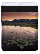 Sunrise Over Granadier Range Molas Pass Duvet Cover