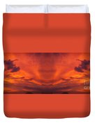 Sunrise Over Jackson Michigan Mirror Image Duvet Cover