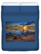 Sunrise Over Lake Michigan Duvet Cover