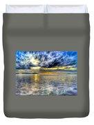 Sunset Over Lake Ontario Duvet Cover