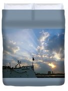 Sunrise Over Philadelphia  Duvet Cover