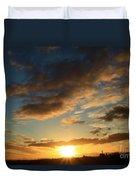 Sunrise Over Port Angeles Duvet Cover