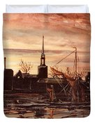 Sunrise Over St Marys Church And Rotherhithe London Duvet Cover