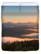 Sunrise Over The Adirondack High Peaks Duvet Cover